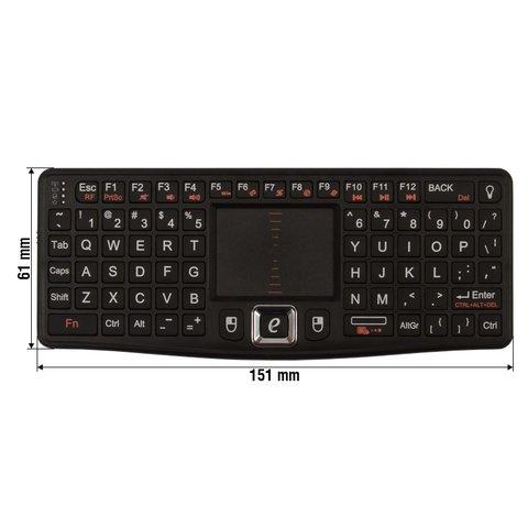 Беспроводная мини-клавиатура (черная)