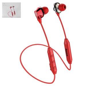 Гарнитура Baseus S10, вакуумные, беспроводные, красные, micro USB тип B, с micro USB кабелем тип В, #NGS10 09