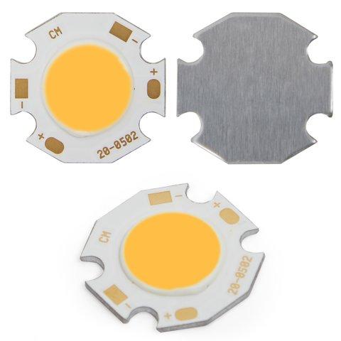 COB LED модуль 5 Вт теплий білий, 450 лм, 20 мм, 300 мА, 15 17 В
