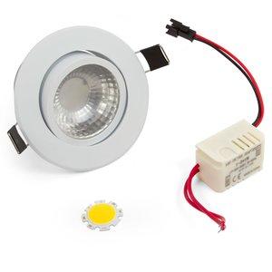 Juego para armar lámpara LED de techo COB 3 W (luz blanca fría)