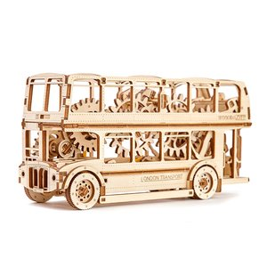 Mechanical 3D Puzzle Wooden.City London Bus